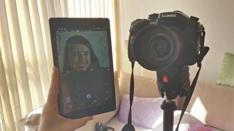 מצלמה וטאבלט עם אפליקצית שליטה מרחוק
