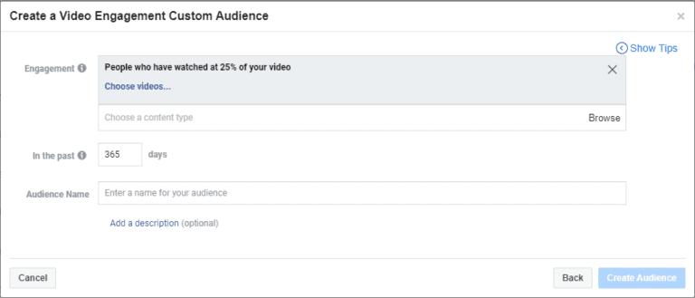 קהל מותאים אישית המבוסס על אנשים שצפו -25% מהוידאו שלנו